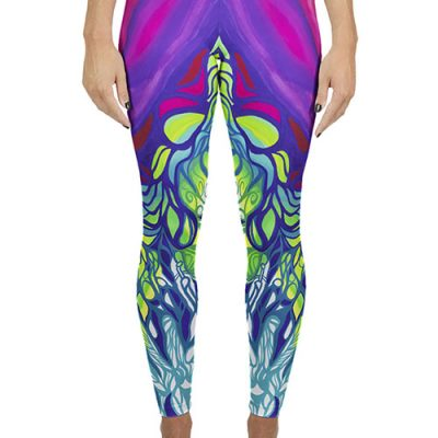 Bright colored yoga legging