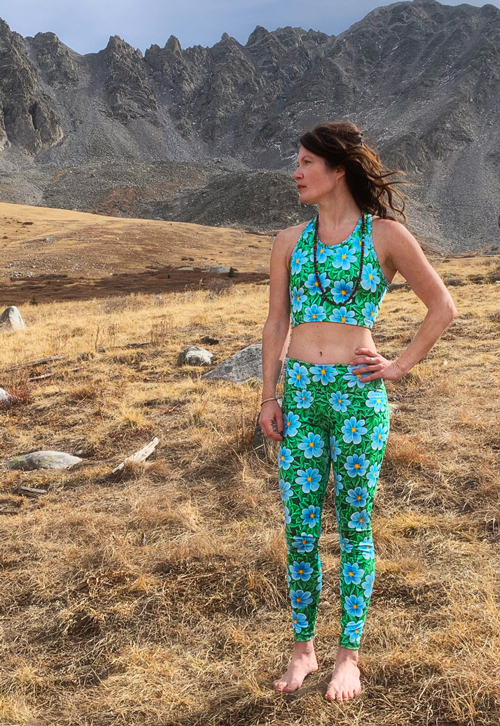 Flower Print Yoga Outfit